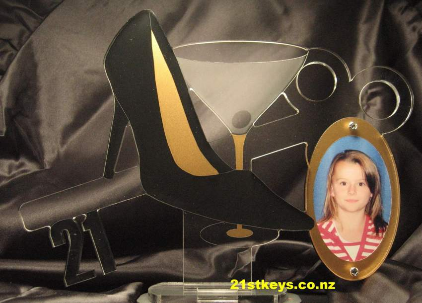 Black Gold Stiletto Martini 21st Key