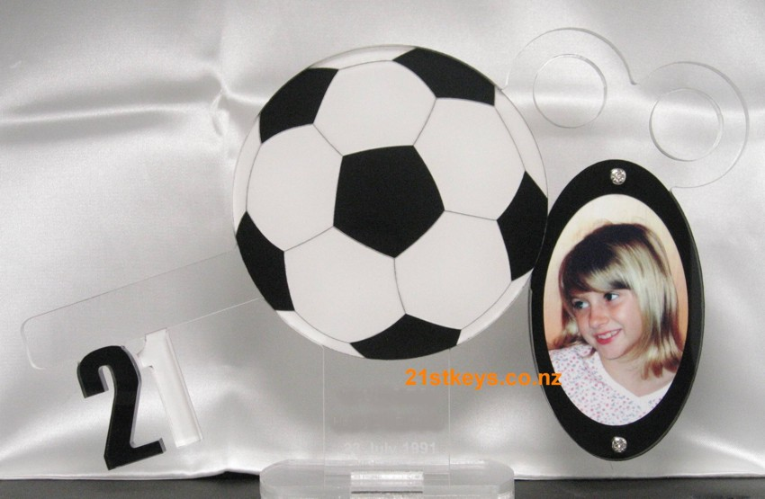 Soccer 21st Picture Birthday Key