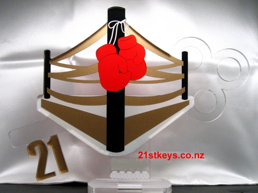 Gold Boxing 21st Birthday Key